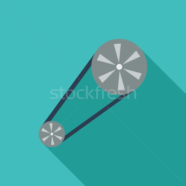 Chronometraż pasa ikona wektora długo cień Zdjęcia stock © smoki