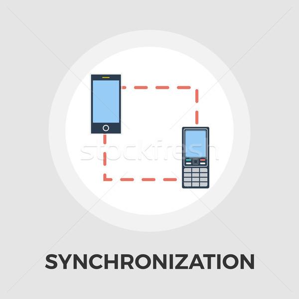 Phone sync vector flat icon Stock photo © smoki