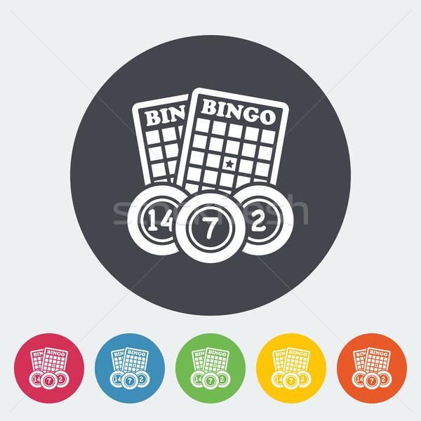Bingo icon cirkel knop kunst leuk Stockfoto © smoki
