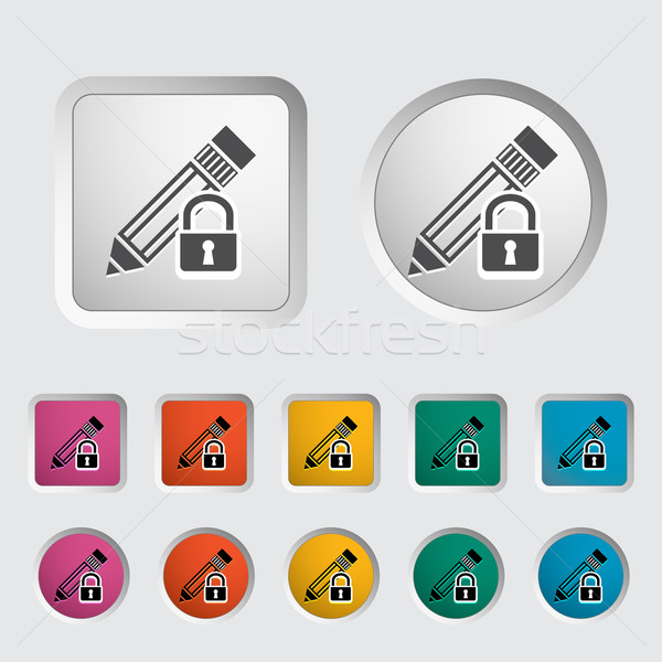 Lock for editing single icon. Stock photo © smoki