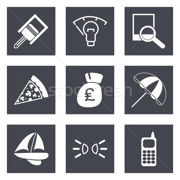 Icons for Web Design set 37 Stock photo © smoki
