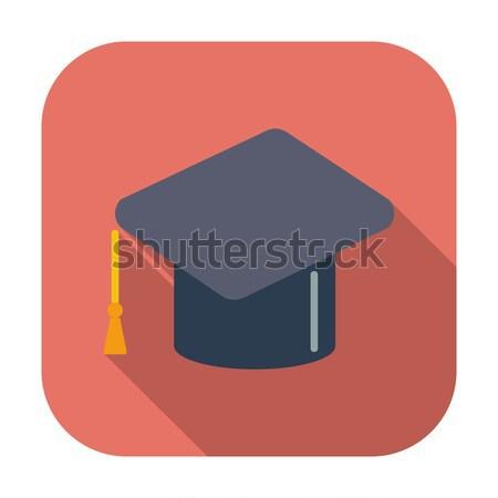 Oktatás ikon szín papír iskola festmény Stock fotó © smoki