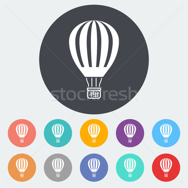 воздушный шар икона круга небе спорт свет Сток-фото © smoki