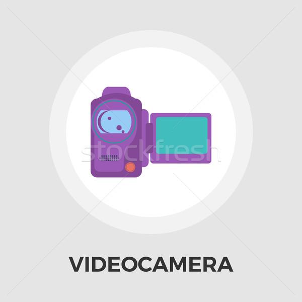 Video Camera Flat Icon Stock photo © smoki