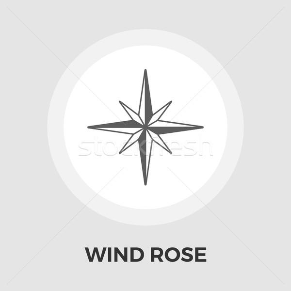 Wind rose vector flat icon Stock photo © smoki