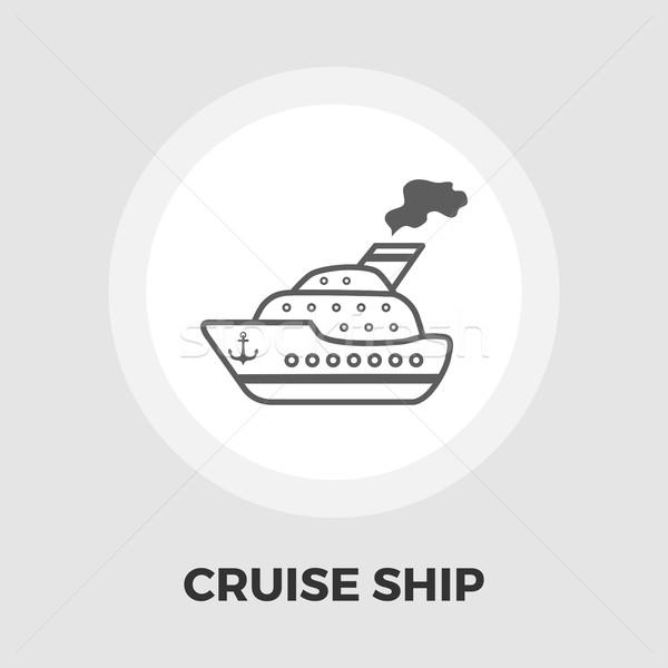 Crucero vector icono aislado blanco Foto stock © smoki