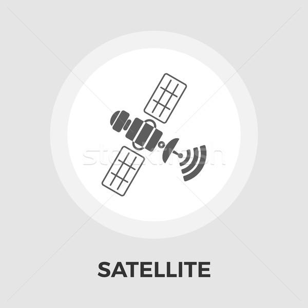 Satellite flat icon Stock photo © smoki