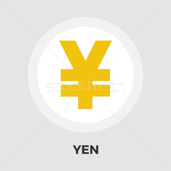 Yen ikon vektör yalıtılmış beyaz düzenlenebilir Stok fotoğraf © smoki