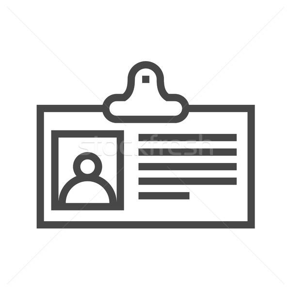 Identification Card Thin Line Vector Icon Stock photo © smoki