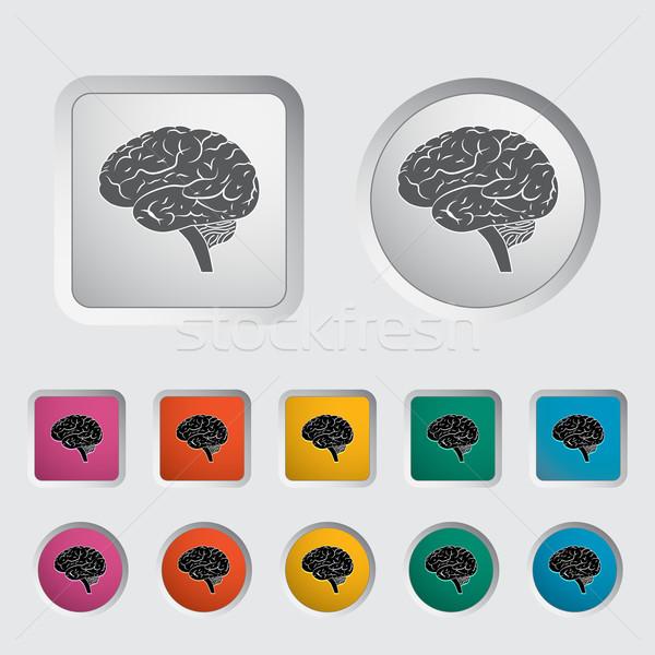脳 人間の脳 eps ボディ デザイン 芸術 ストックフォト © smoki