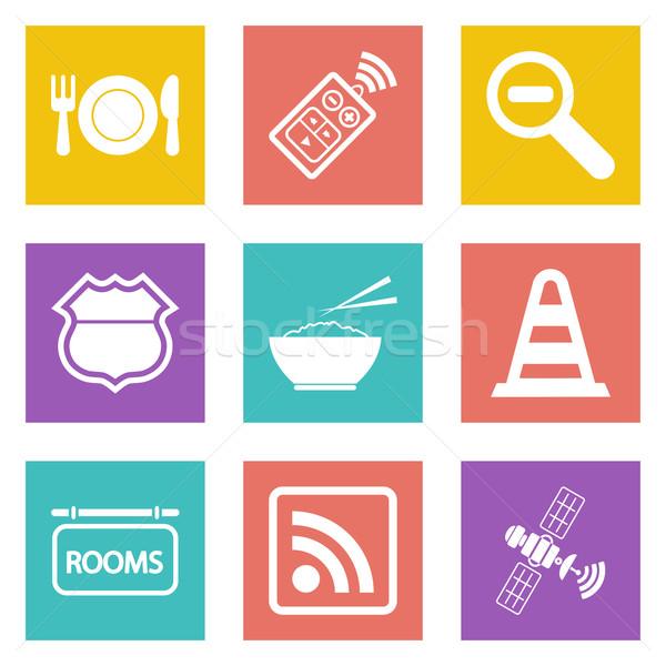 Iconos diseno web establecer 24 color móviles Foto stock © smoki