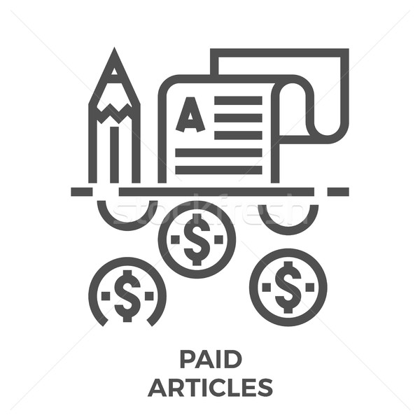 Paid articles icon Stock photo © smoki