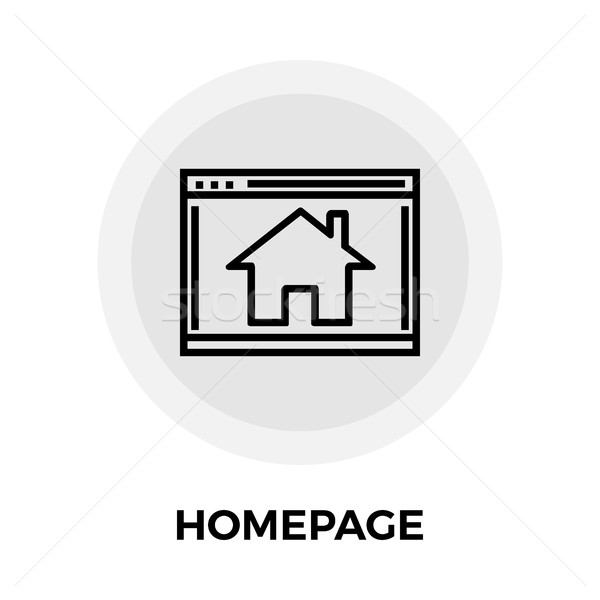 Homepage Line Icon Stock photo © smoki