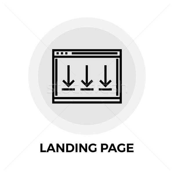 Aterrizaje página línea icono vector aislado Foto stock © smoki
