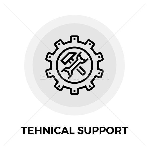 Technische ondersteuning lijn icon vector geïsoleerd witte Stockfoto © smoki