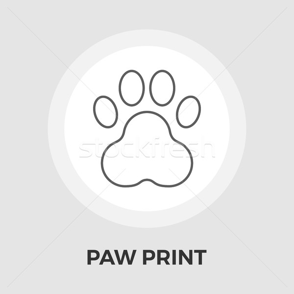Pata vector icono aislado blanco Foto stock © smoki