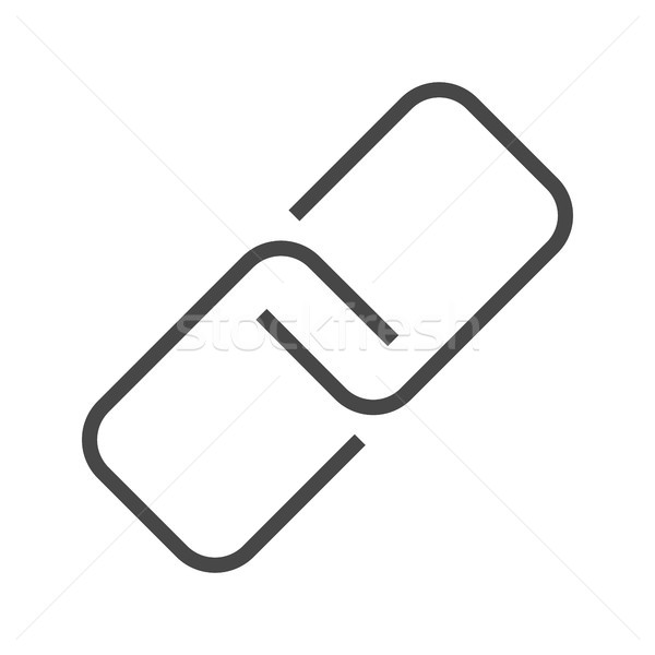 Link Thin Line Vector Icon. Stock photo © smoki