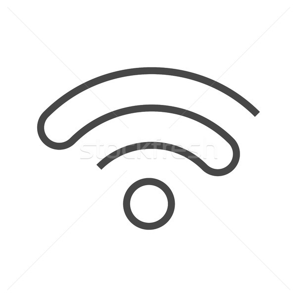 Wi FI Thin Line Vector Icon. Stock photo © smoki