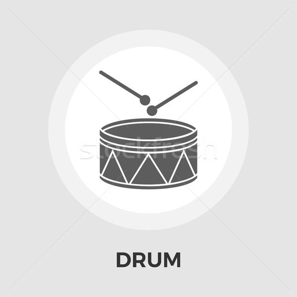 Drum vector flat icon Stock photo © smoki