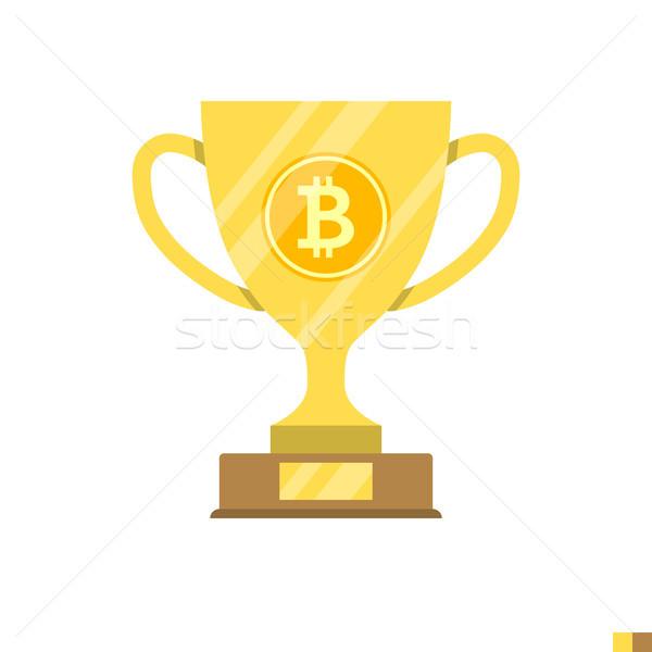 Block Reward Flat Icon Stock photo © smoki