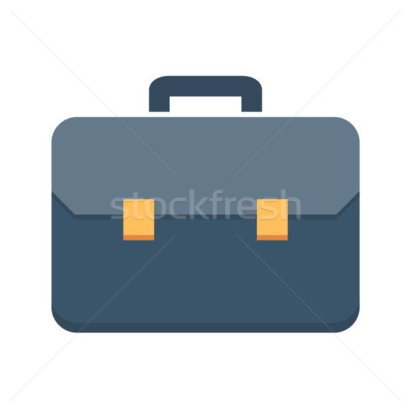 Aktatáska vektor ikon izolált fehér szerkeszthető Stock fotó © smoki