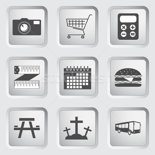 Icons on the buttons for Web Design. Set 3 Stock photo © smoki