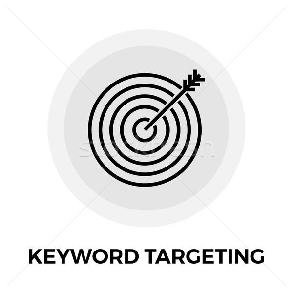 Keyword Targeting Line Icon Stock photo © smoki