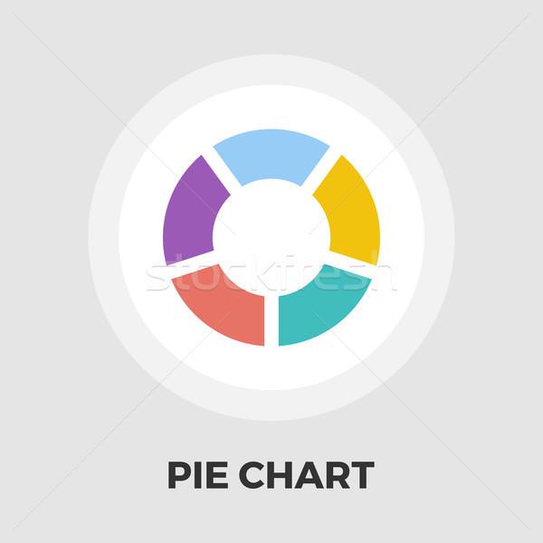 Stockfoto: Cirkeldiagram · icon · vector · geïsoleerd · witte