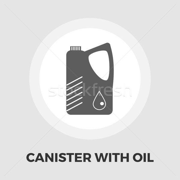 Canister with oil flat icon Stock photo © smoki