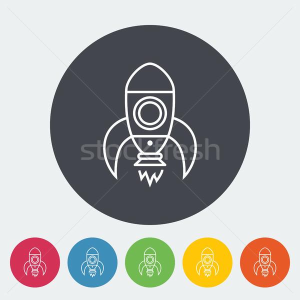 ロケット アイコン 薄い 行 ベクトル ウェブ ストックフォト © smoki