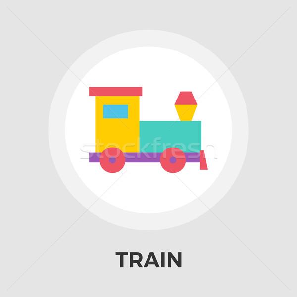 Tren vektör ikon yalıtılmış beyaz düzenlenebilir Stok fotoğraf © smoki