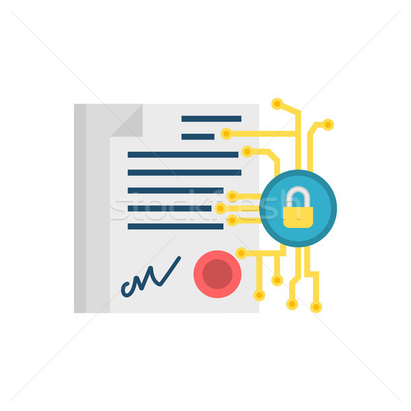 Digital Contract Vector Icon Stock photo © smoki