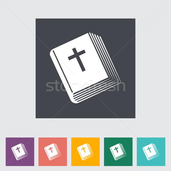 Bible flat single icon. Stock photo © smoki