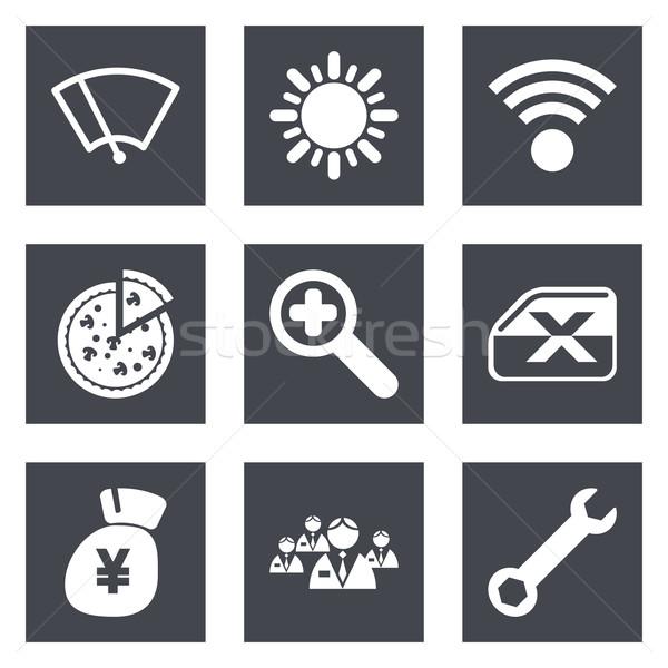 Color iconos diseno web establecer móviles aplicaciones Foto stock © smoki