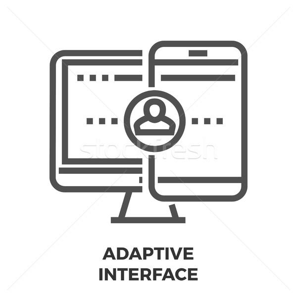 Adaptive Interface Line Icon Stock photo © smoki