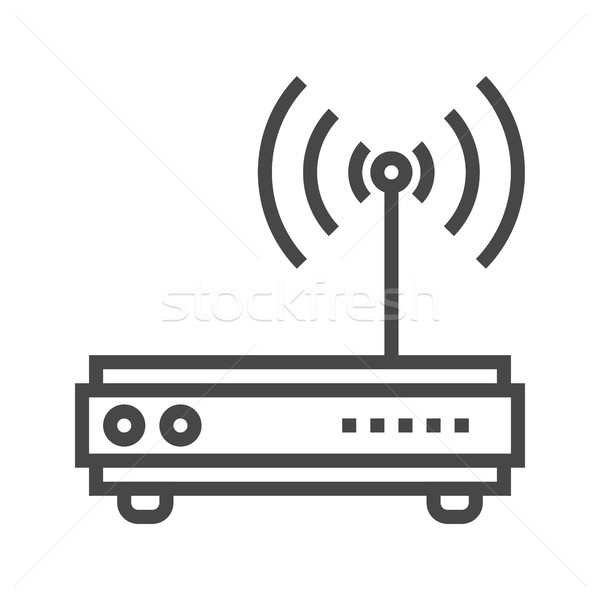 Router Line Icon Stock photo © smoki