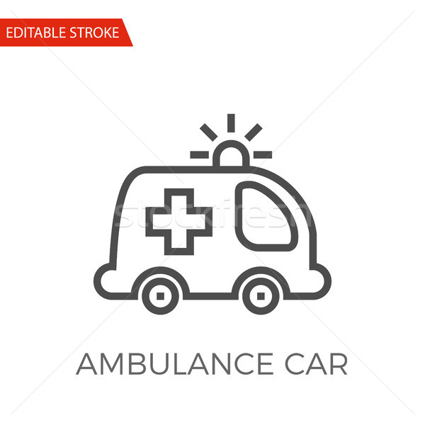 Ambulance Car Vector Icon Stock photo © smoki