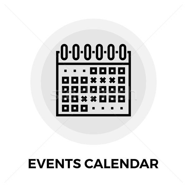 Сток-фото: событиях · календаря · линия · икона · вектора · изолированный