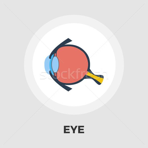 Anatómia szem ikon vektor izolált fehér Stock fotó © smoki