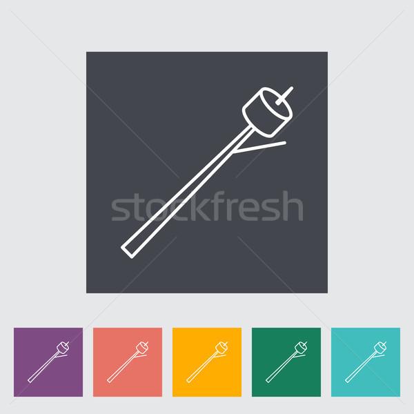 マシュマロ アイコン ボタン 食品 芸術 ストックフォト © smoki