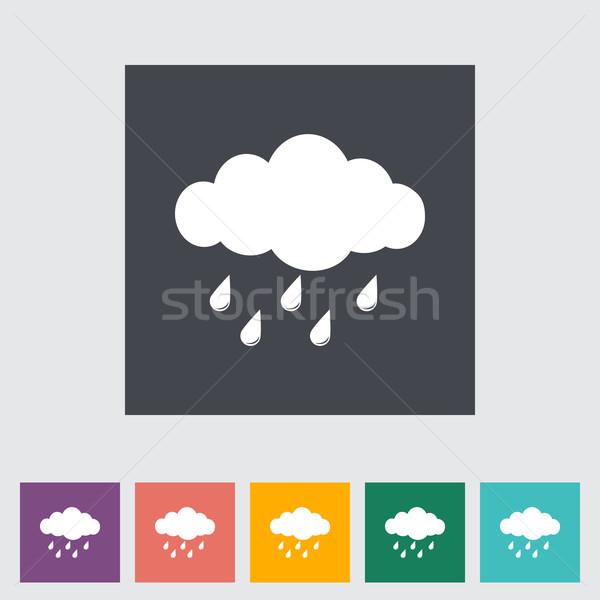 дождь икона природы дизайна искусства синий Сток-фото © smoki