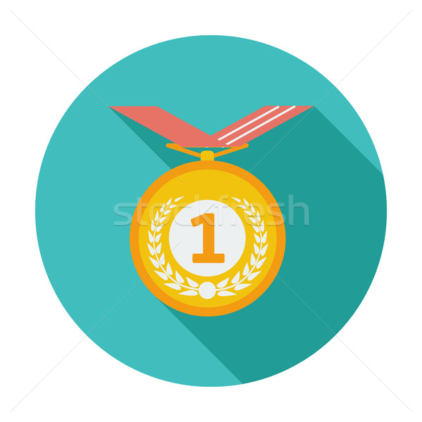 Icon medaille kleur goud succes winnaar Stockfoto © smoki