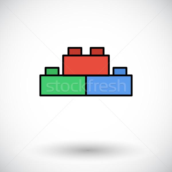 Building block icon Stock photo © smoki