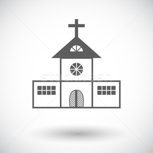 Foto d'archivio: Chiesa · icona · bianco · costruzione · cross · culto