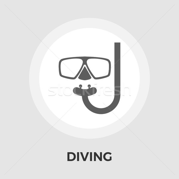Diving Vector Flat Icon Stock photo © smoki