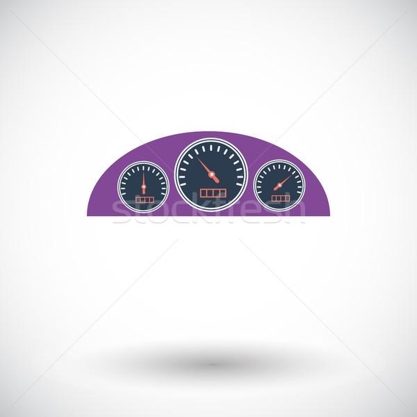 икона приборная панель белый спорт скорости черный Сток-фото © smoki