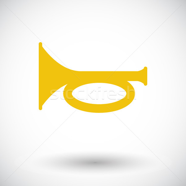 Horn icon Stock photo © smoki