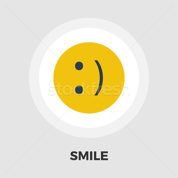 Mosoly ikon vektor izolált fehér szerkeszthető Stock fotó © smoki
