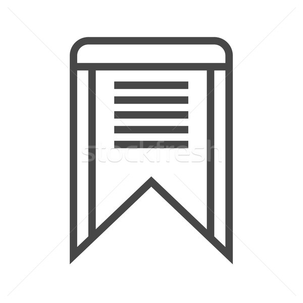 Bookmark Thin Line Vector Icon Stock photo © smoki