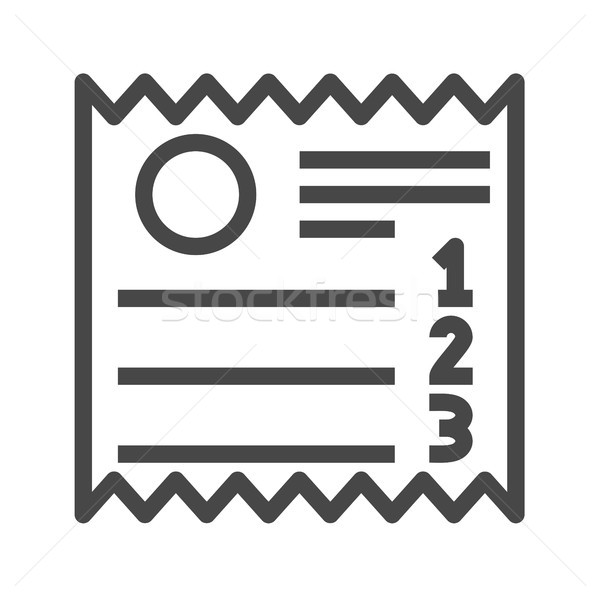 Sales Receipt Thin Line Vector Icon Stock photo © smoki